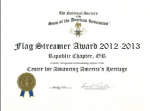 Flag Streamer Award 2012-2013